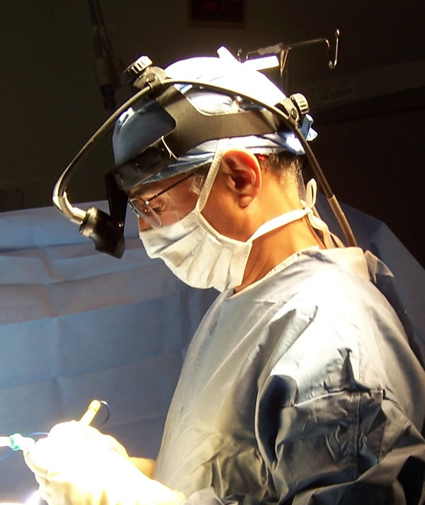 Dr. Ajir in surgery.